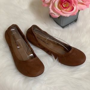 Lucky Brand Emmie Ballet Flats Shoes Brown